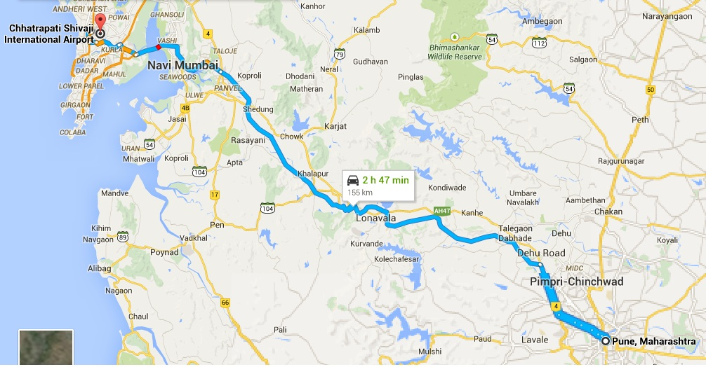 The best pune to mumbai airport pick up drop via best cabs in pune